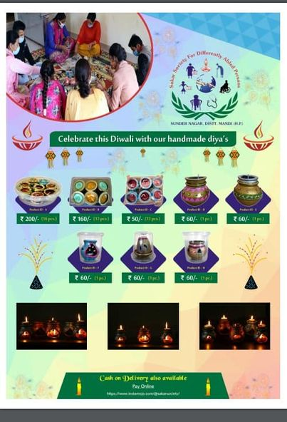 Celebrate this Diwali with beutiful Diya's. As our