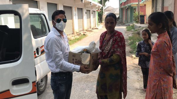 sakar society distributed dry ration to its specia
